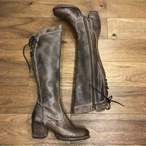 Bed Stu size 8.5 Fortune Taupe Rustic Boots